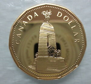 CANADA-1994-NATIONAL-WAR-MEMORIAL-LOONIE-PROOF-DOLLAR-COIN