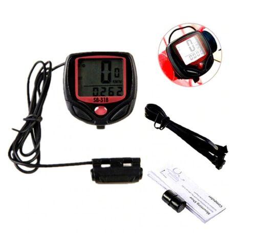 UK LCD Cycle Ordinateur Odomètre Bicyclette Vélo Compteur de vitesse imperméable