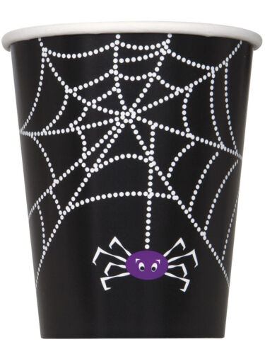 Spider Web Halloween Birthday Party Tableware Napkins Plates Cups Tablecover