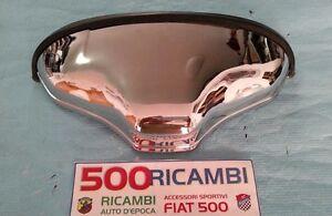 FIAT-500-F-L-R-FANALINO-POSTERIORE-FANALE-LUCE-TARGA-IN-ALLUMINIO-CROMATO-NUOVO