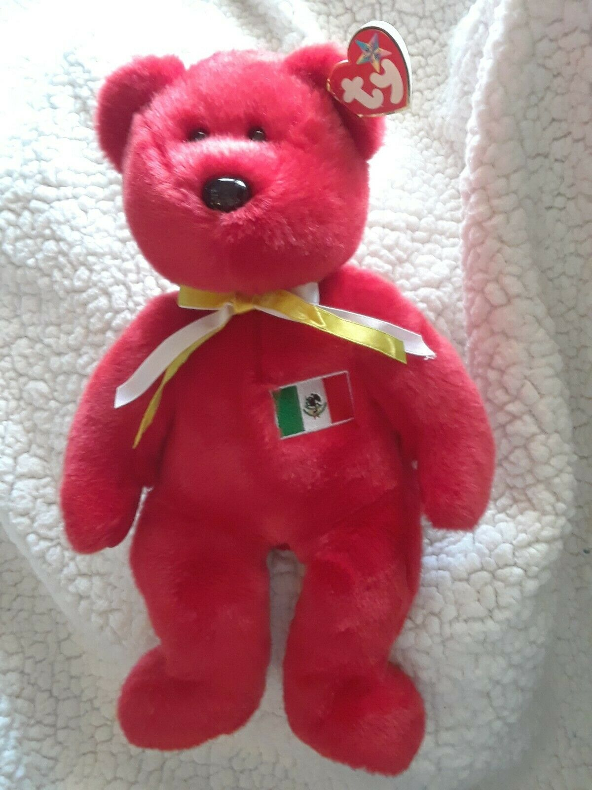 Ty Beanie Buddy RED OSITO Bear Mexico w  Tag Plush Toy RARE RETIRED