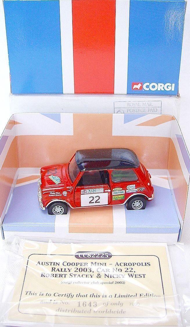 Corgi Toys 1 36 MORRIS MINI COOPER  ACROPOLIS RALLY 2003  Model Car MIB`03 RARE