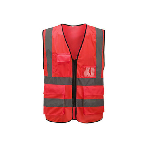 Warnschutzweste Reißverschluss reflektierende Jacke Sicherheitsweste Verkehr AT
