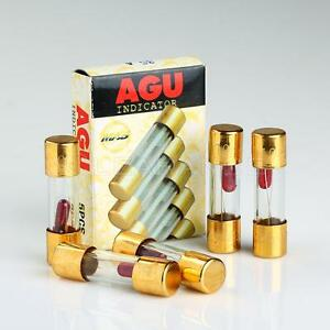 s l300 5 pack agu fuse 10a amp gold plated glass with blown fuse led