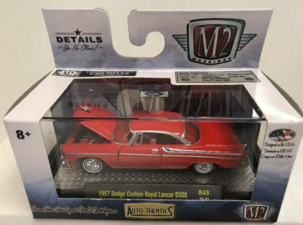 M2 Machines 32600-R49-19-27 Dodge Custom Royal Lancer Super D500 grau 1:64 NEU!°