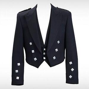 New-Prince-Charlie-Kilt-Jacket-With-Waistcoat-Vest-Sizes-36-034-54-034