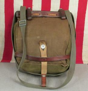 09543e179a Image is loading Vintage-Swiss-Army-Military-Canvas-Shoulder-Bag-Messenger-