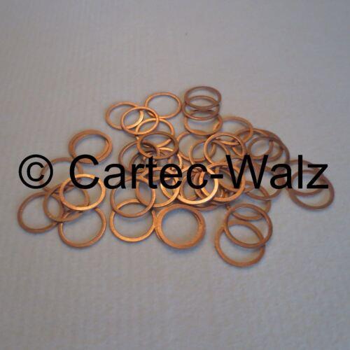 50 pièces Anneaux De Cuivre Bagues D/'étanchéité Joints CU 27x32x2,0 mm DIN 7603 forme a