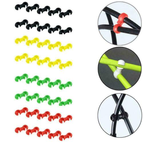 10 x Bike Rotating S Shaped Hook Clips Brake Gear Cross Tools Tidy Buckle G2E0