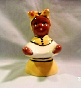 Career K*45 -8-  Ceramic YELLOW w/RED- White Hospitality Lady  Pie Vent