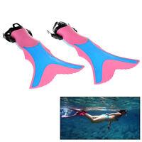 Children Kids Swimming Diving Snorkeling Fins Flippers Scuba Set Gear Size L XL
