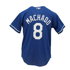 the latest 3ffe9 b4bf6 Details about Los Angeles Dodgers MLB Genuine Kids Youth Size Manny Machado  Jersey New Tags