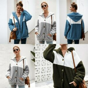 Outwear-Winter-Long-Sleeve-Fluffy-Coat-Hoodie-Hooded-Jacket-Warm-Parka-Women-039-s