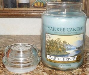 Yankee-Candle-Over-The-River-LARGE-22-oz-GLASS-JAR-SCENTED-HOUSE-WARMER-NEW