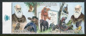 Vanuatu-2009-Charles-Darwin-Animaux-Oiseaux-TORTUE-SINGE-Iguane-tamponne-Neuf-sans-charniere