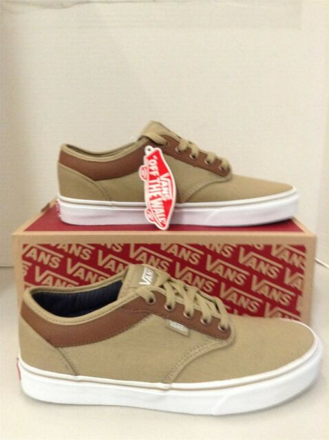 New Vans Atwood Stripe Men Sz. 8 Khaki