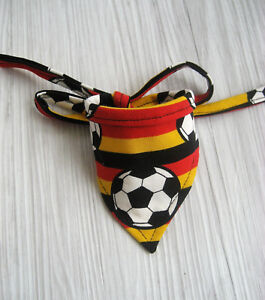Fussball Halsumfang 19-48 cm Hundetuch Hundehalstuch Halstuch Halsband Tuch Hund