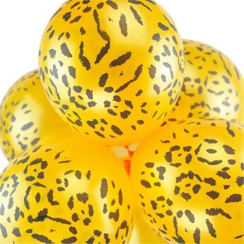 "10x 12/"" Multicoloured Safari Animal Print Latex Balloons Wild Party Decoration"