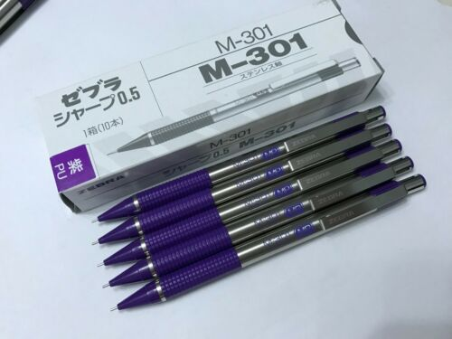 zebra m 301 stainless steel 0 5 mm mechanical pencil x 5 pcs green barrel pens writing instruments fundetfunval collectibles