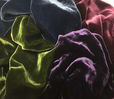 Silk VELVET Victorian JEWELS Colors Fabric Sample Set Remnants Lot