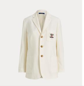 Polo Ralph Lauren  Wool-Blend Blazer White Size 2