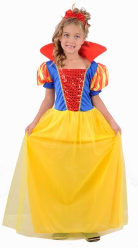 Girls Child Kids SNOW WHITE Fancy Dress Costume Fairy Princess Dress-up Age 3-12