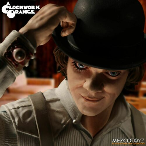 Stanley Kubrick movie Clockwork Orange Alex DeLarge 30cm Action Figure Mezco Toy