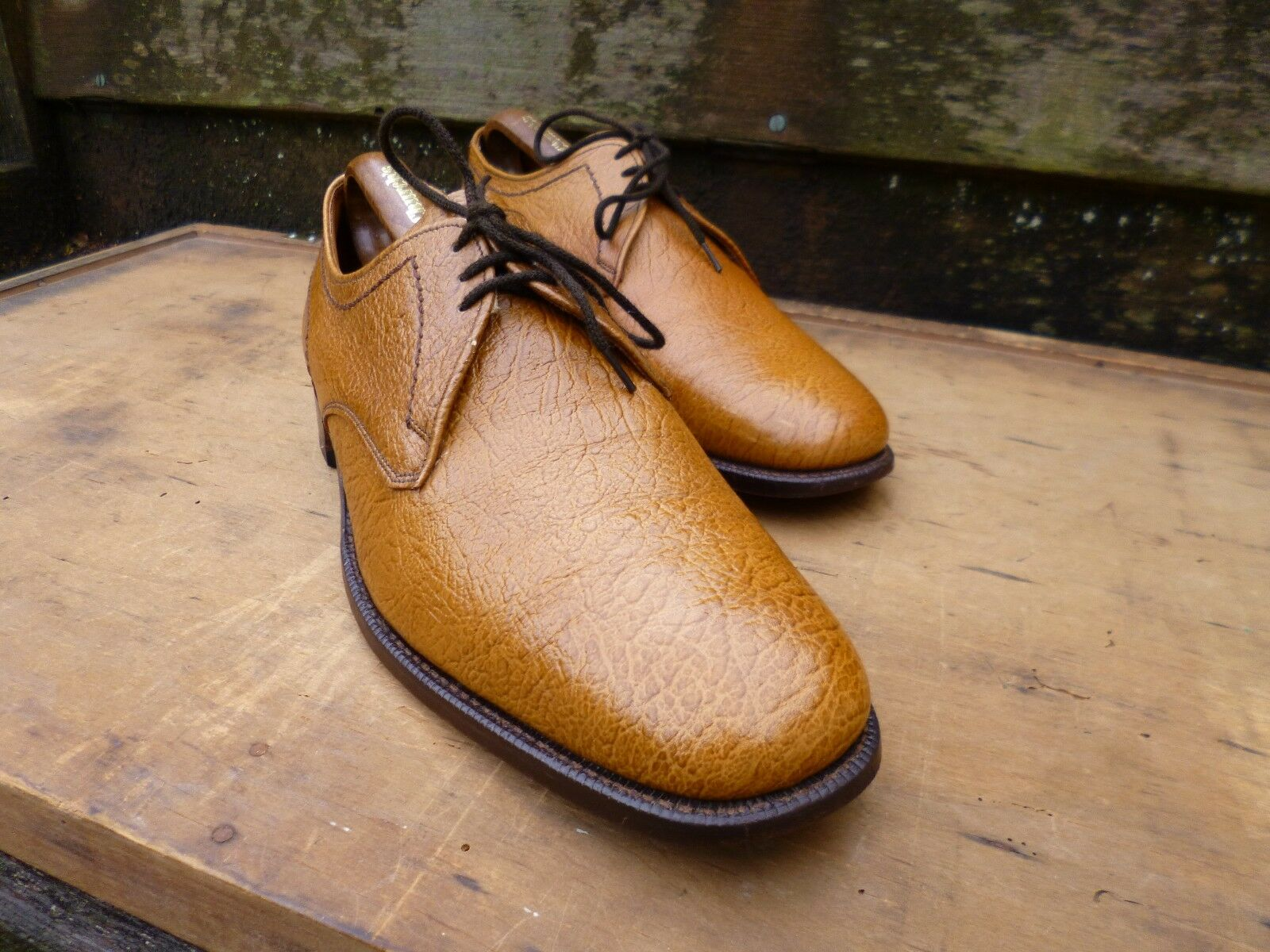 CHEANEY VINTAGE DERBY - UK 9.5 – BROWN   TAN - TETBURY- EXCELLENT COND
