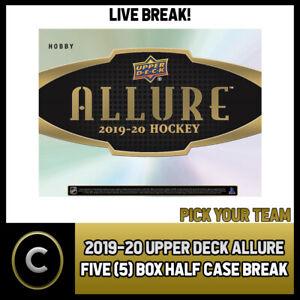 2019-20-UPPER-DECK-ALLURE-HOCKEY-5-BOX-HALF-CASE-BREAK-H585-PICK-YOUR-TEAM