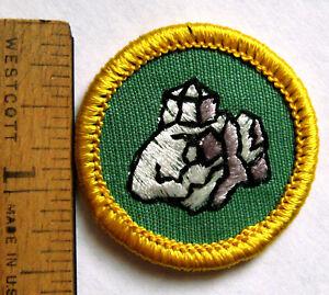 Rare 1974-77 Girl Scout Cadette ROCK & MINERALS BADGE ...