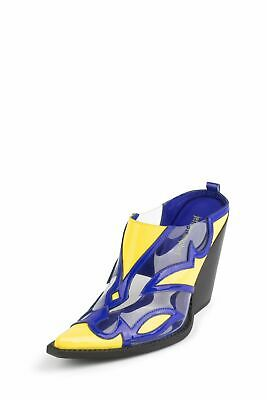 2019 New Style Jeffrey Campbell Skymont Bleu Verni Jaune Transparent Bottines 6