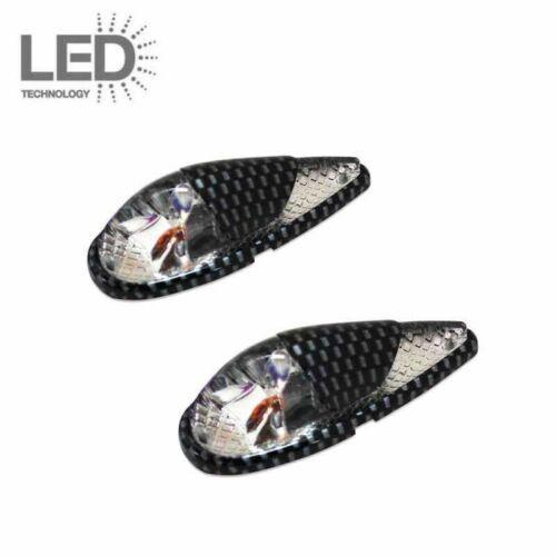 Paire de clignotants à Led transparent//carbone goutte d/'eau moto scooter mecaboi