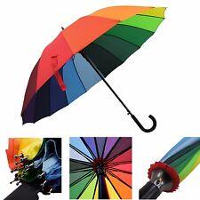 Regenschirm Partnerschirm Regenbogen bunt groß zwei Personen - XXL Golf - leicht