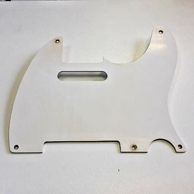 Aged 50 TL Pickguard White 1 Ply 5 Hole 1.6mm GuitarSlinger Parts fits to Tele ®