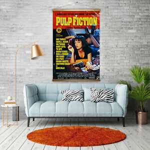 Huge-90cm-x-140cm-Pulp-Fiction-Heavyweight-Canvas-Poster-Movie-Poster-Classic