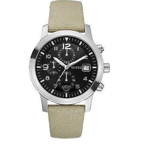 Orologio Uomo Guess Cronografo W11163G1 Cinturino in Stoffa