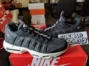 3e8891223089 Nike Air Max 95 TT Pull Tab Pack Black Gym Red Sail 3M White Reflect ...