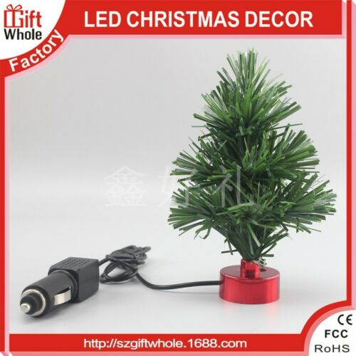 12V FIBRE OPTIC CAR VAN DASHBOARD CHRISTMAS TREE LIGHTS XMAS DECORATION