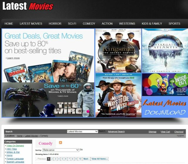 MOVIE Selling Site, Turnkey, amazon affiliate Website, Automated Movies site