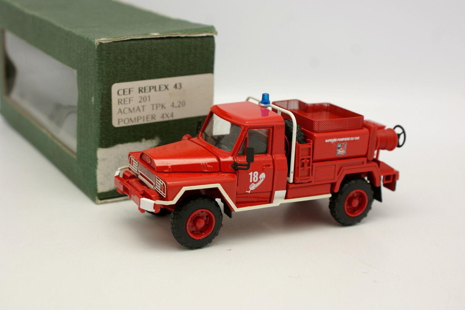 CEF Replex 1/43 - Acmat 4X4 TPK 4 20 Pompiers Du Var