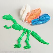 Dinosaur Bones Sand Mold T-Rex Toy 10 Pieces Party Paleontology Dig 12 Months +