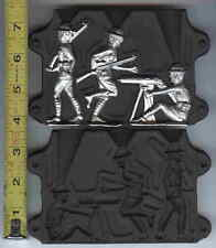 """TOY LEAD or TIN  mold molds LARGE! WW 1 3"""" figures!"""