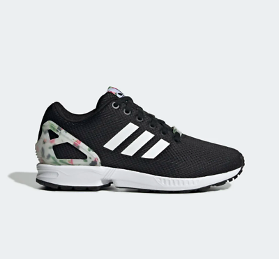womens adidas black zx flux trainers