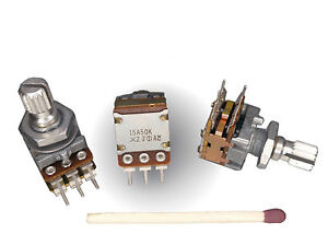 Details about [4pcs] NOBLE 50k STEREO POTENTIOMETER, DUAL TAPER Log A  Volume Control FOR AUDIO