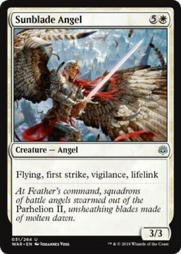 Uncommon 031//264 4 x Sunblade Angel - War of the Spark