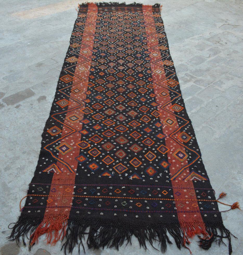10'5 x 3'2 3'2 3'2 Feet Wool Handwoven AFGHAN Tribal Suzani Kilim Runner, Floor Runner 712c54