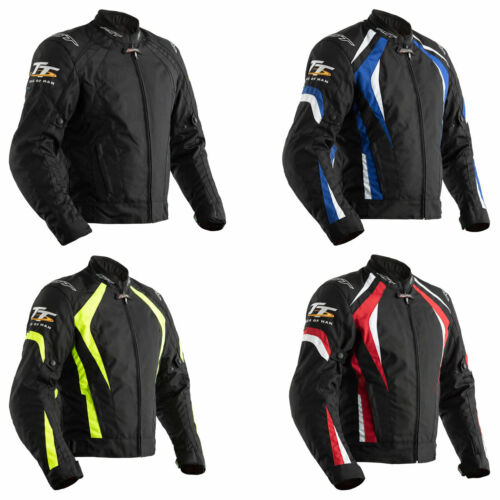 RST IOM TT Grandstand CE Motorbike Textile Jacket All Colours /& Sizes