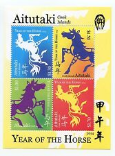 Aitutaki - Postfris / MNH - Sheet Year of the Horse 2014