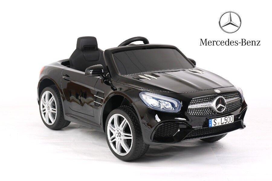 Kinder Elektroauto Mercedes SL500, lizenziert MP3, Blautooth, Radio, Ledersitz