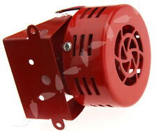 12V Car Truck Motorcycle ATV Raid Siren Small Electric Horn Alarm 115DB Red